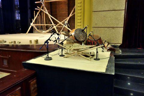 Hanoi-Vietnam-Tuong-Theaterの民族楽器