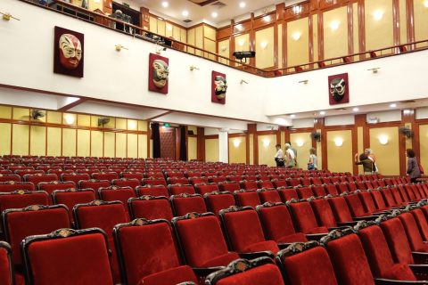 Hanoi-Vietnam-Tuong-Theaterの客席