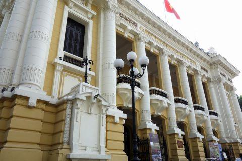 ハノイ・オペラハウスの外壁