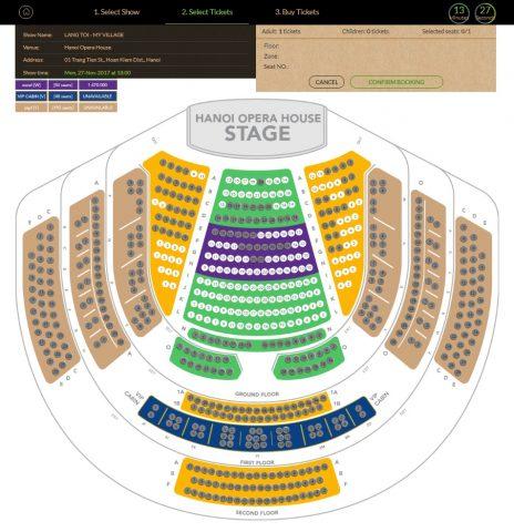 ハノイ・オペラハウスの座席表