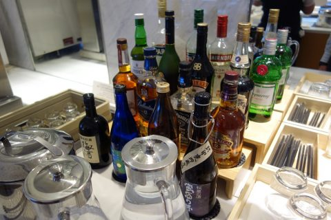 JAL成田空港サテライトサクララウンジのアルコール