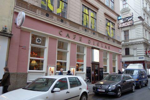 Cafe-Diglasピンクの壁