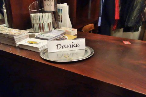 Cafe-Landtmannクロークのチップ