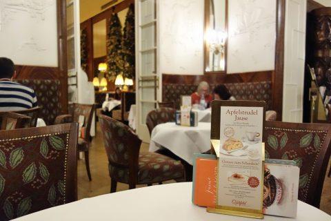 Cafe-Landtmannテーブル