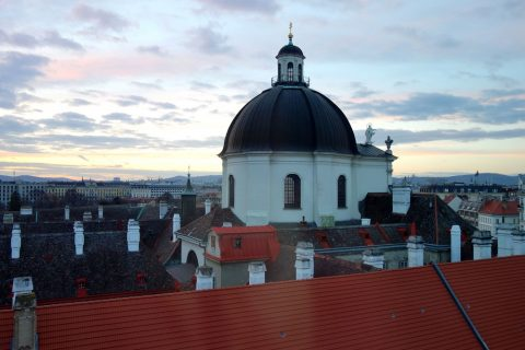 Lindner-Hotel-am-Belvedere窓から見える修道院