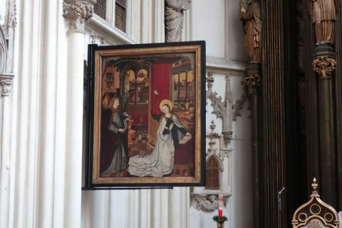 Maria-am-Gestade祭壇横の絵