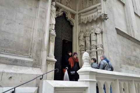 Maria-am-Gestade観光客