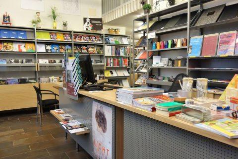 Musikhaus-Laimerの店内