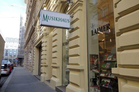 Musikhaus-Laimerの店頭