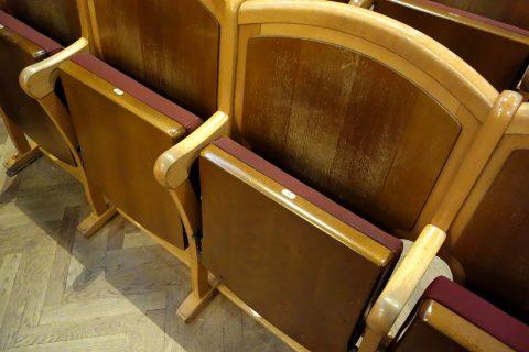 ウィーン楽友協会シートの座り心地