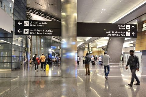 doha-airport案内板