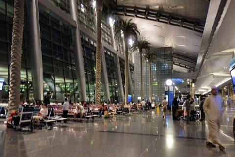 ドーハハマド空港の豪華なイミグレーション