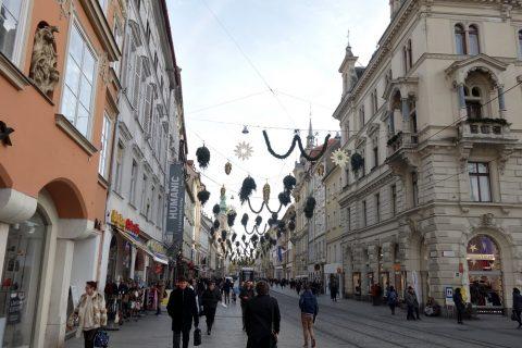 グラーツの街を歩く