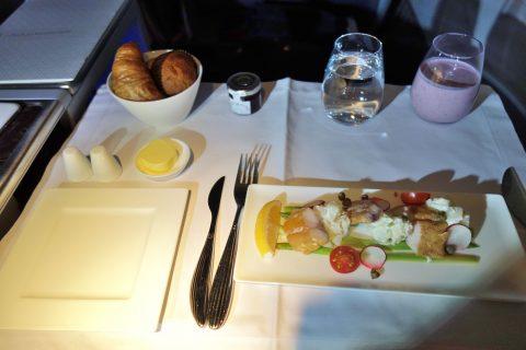 qatarairwaysビジネスクラス機内食の前菜