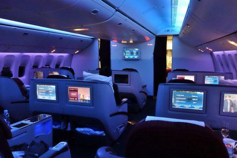 カタール航空ビジネスクラスの深夜便