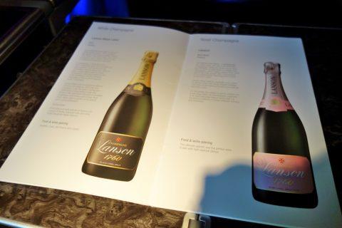 カタール航空ビジネスクラスB777-200ワインリスト