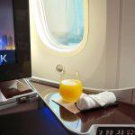 カタール航空ビジネスクラスB787-8座席図とアメニティ/ドーハ~ウィーン搭乗記!
