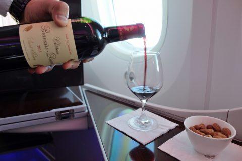 カタール航空ビジネスクラス赤ワインChateau-Branaire-Ducru