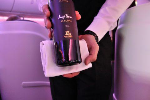 カタール航空ビジネスクラスのワインLuigi-Bosca-de-Sangre-2013
