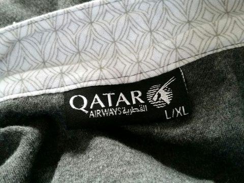 カタール航空b777-200ビジネスクラスのパジャマ