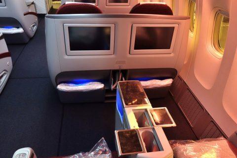 カタール航空b777-200ビジネスクラスのモニター