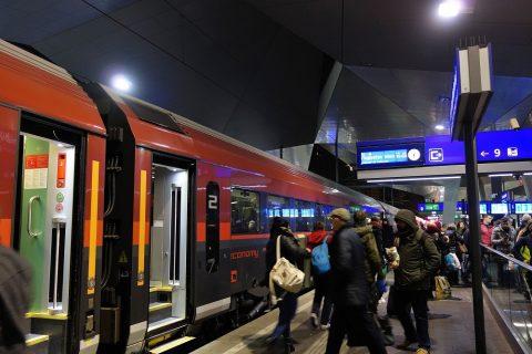 ウィーン中央駅からRJで空港へ