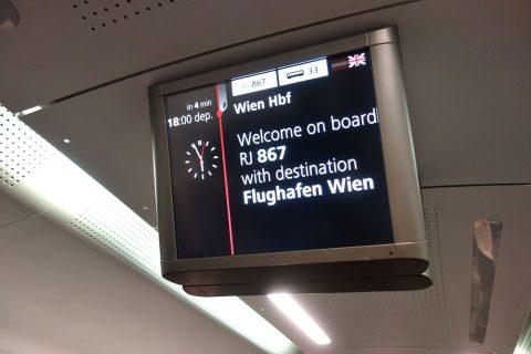 ウィーン中央駅まで15分RJ