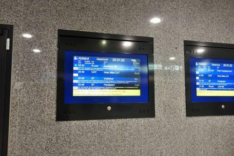 ウィーン国際空港OBB電光掲示板