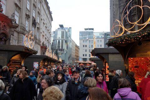 vienna-christmas-marketの人混み