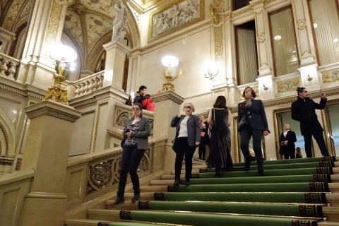 ウィーン国立オペラ座の大階段