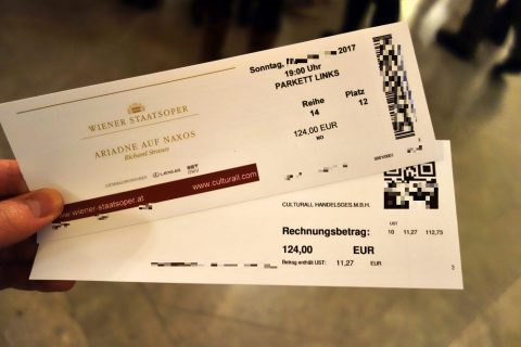 ウィーン国立オペラ座チケット引き換え