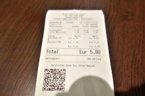 Cafe-Erzherzog-Johannの会計