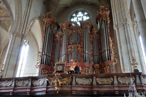 グラーツ大聖堂でオルガンの練習