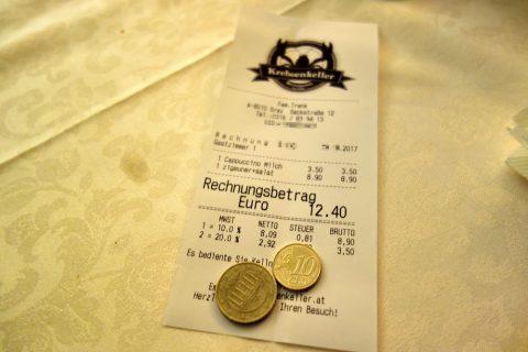 Krebsenkeller-grazのお会計