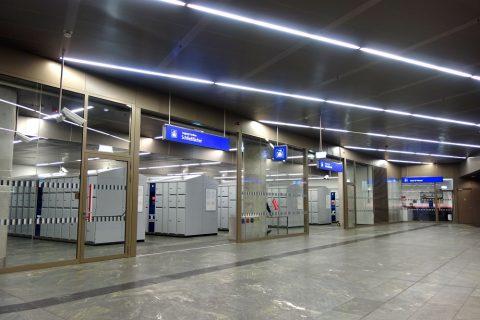 ウィーン中央駅のコインロッカー