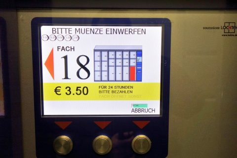 モニター/ウィーン中央駅のコインロッカー