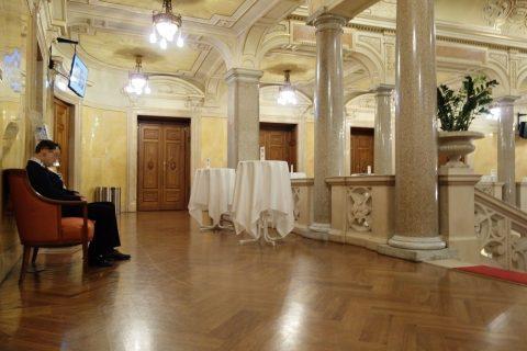 グラーツ楽友協会の客席入口