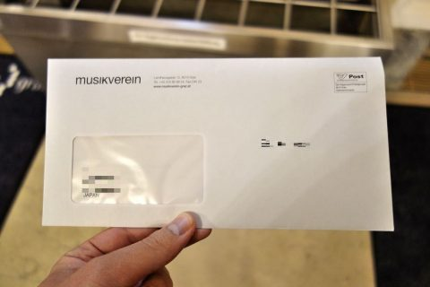 Musikverein-Grazチケットの封筒