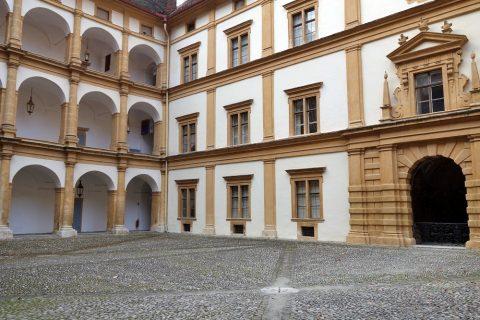 エッゲンベルク城の中庭