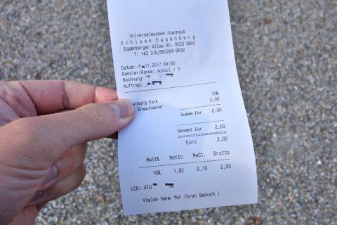 エッゲンベルク城の入場料