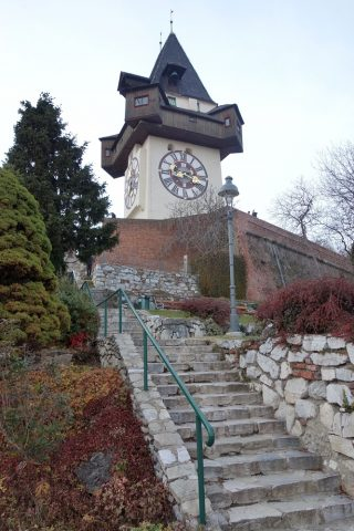 Schlossberg-grazの時計台