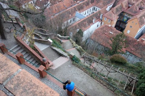 Schlossberg-grazの階段の数