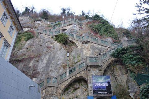 Schlossberg-grazへ徒歩で登る