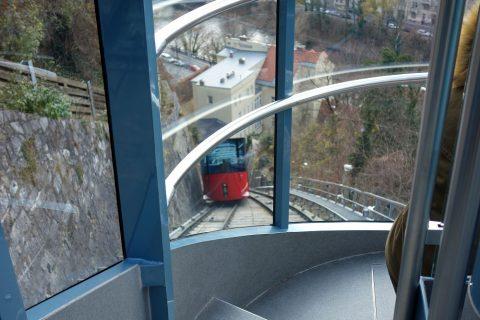 Schlossberg-grazケーブルカーからの眺め