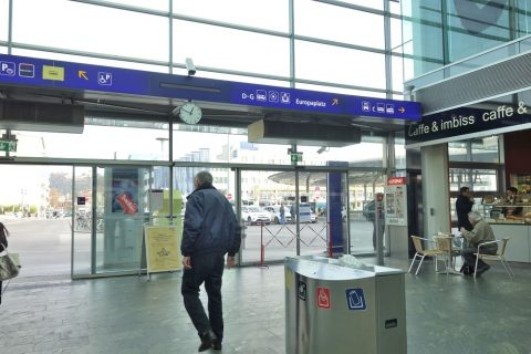 グラーツ中央駅のトラム乗り場
