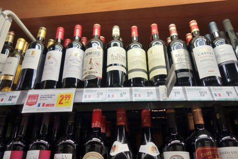 merkur-grazスーパーにあるフランスワイン