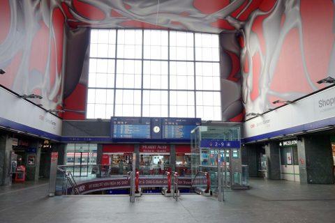 グラーツ中央駅の中央エントランス