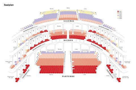 グラーツ歌劇場のシートマップ