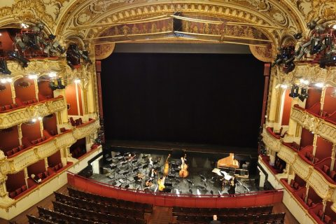グラーツ歌劇場4階席からの眺望