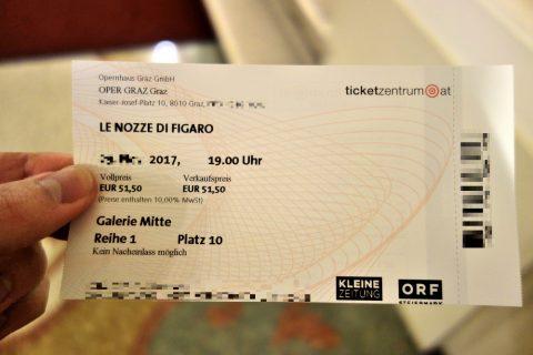グラーツオペラのチケット